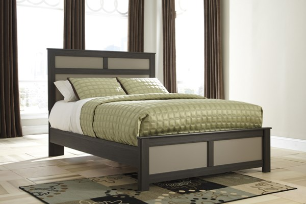Wellatown Contemporary Gray Wood Panel Beds B142-BEDS